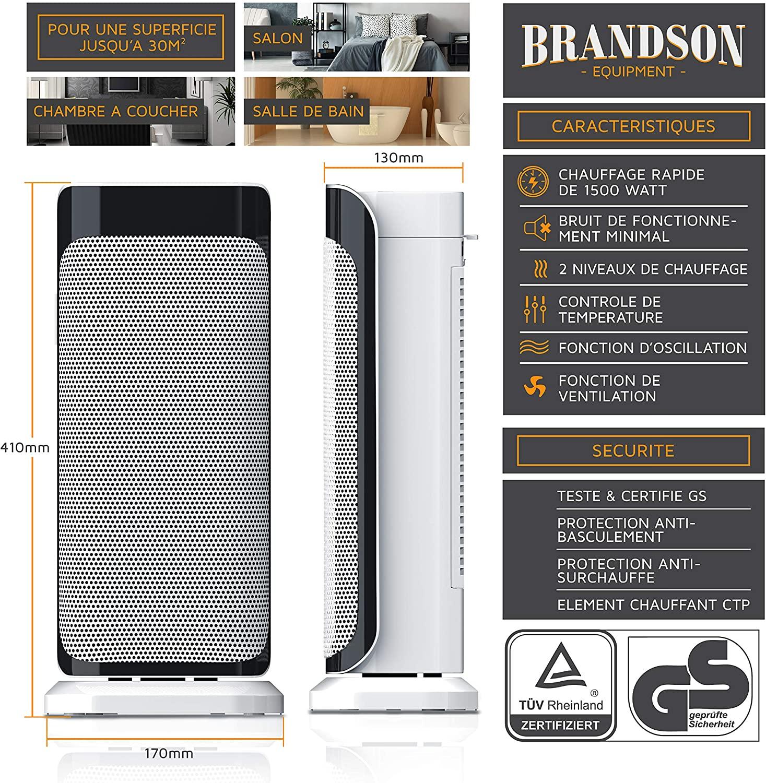 Brandson - radiateur soufflant céramique